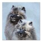 Keeshond Brothers Square Car Magnet 3