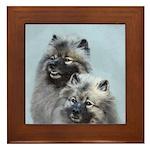 Keeshond Brothers Framed Tile