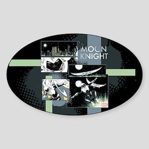 Moon Knight Panels Sticker (Oval)
