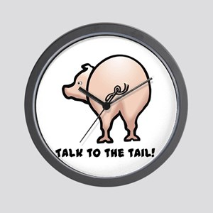 Talk to the Tail Pig Wall Clock
