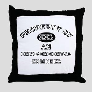 Property of an Environmental Engineer Throw Pillow