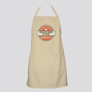 french horn player vintage logo Apron