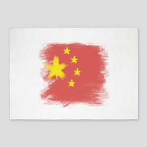 China Flag Chinese 5'x7'Area Rug
