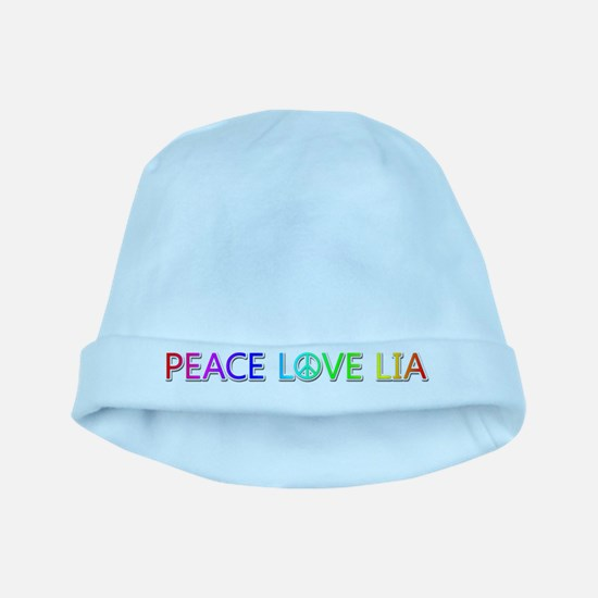 Peace Love Lia baby hat