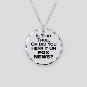 True or Fox News? Necklace Circle Charm