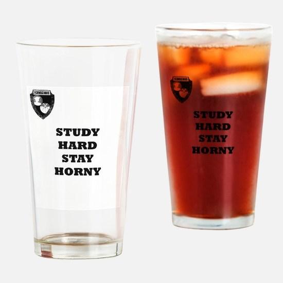 Unique Study hard Drinking Glass