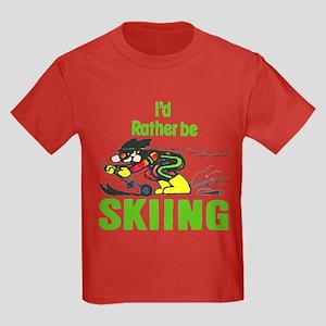 I'd Rather Be Skiing - Kids Dark T-Shirt