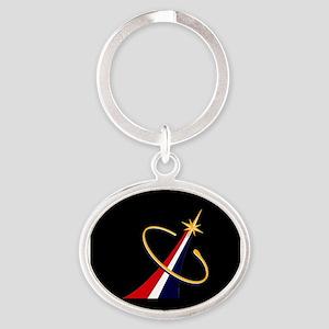 Commercial Crew Program Oval Keychain