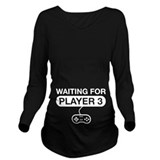 Nerd Dark Long Sleeve Maternity T-Shirt