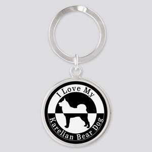 Karelian Bear Dog Keychains