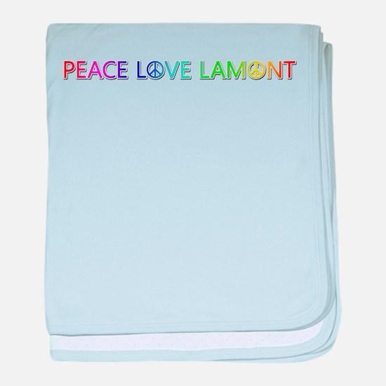 Peace Love Lamont baby blanket