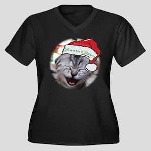 Santa Claws Women's Plus Size V-Neck Dark T-Shirt