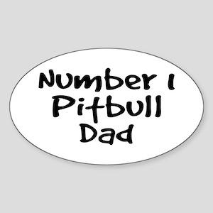 Number 1 Pitbull Dad. Sticker