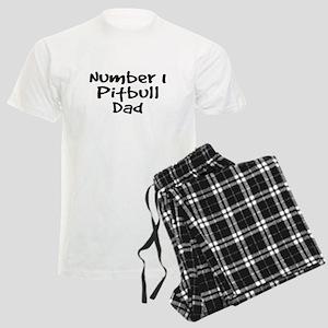 Number 1 Pitbull Dad. Men's Light Pajamas