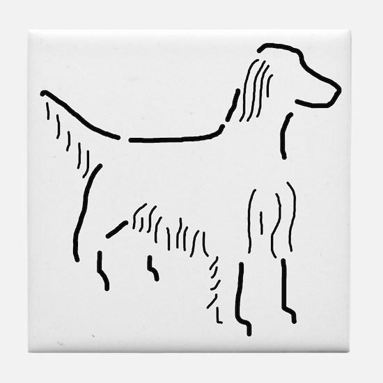 Irish Setter Sketch Tile Coaster