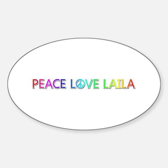 Peace Love Laila Oval Decal