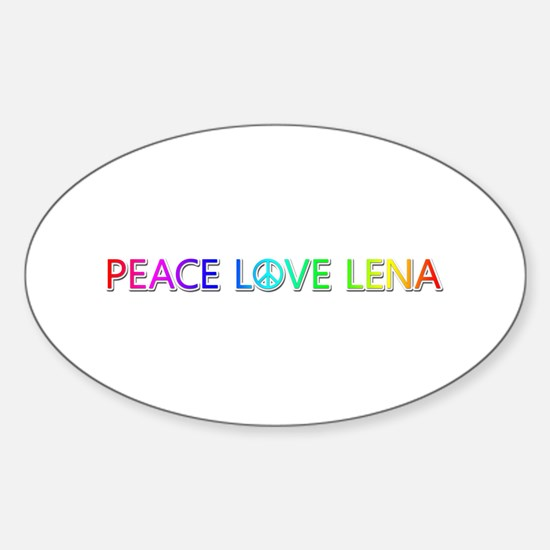 Peace Love Lena Oval Decal