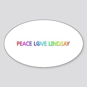 Peace Love Lindsay Oval Sticker