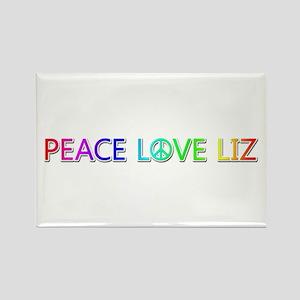 Peace Love Liz Rectangle Magnet