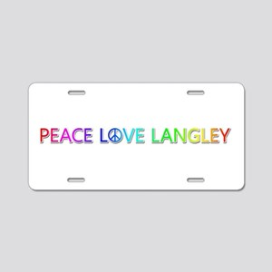 Peace Love Langley Aluminum License Plate