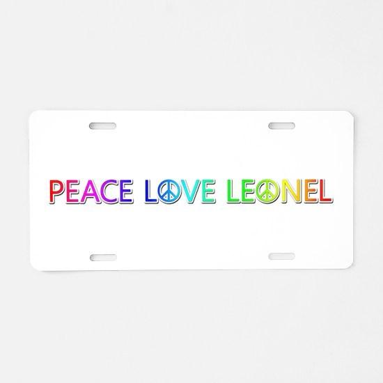 Peace Love Leonel Aluminum License Plate