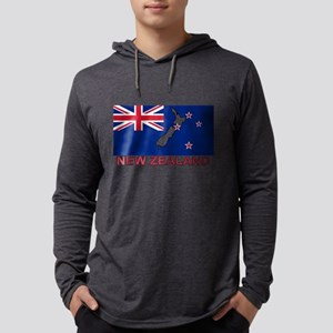 New Zealand Flag (labeled) Long Sleeve T-Shirt