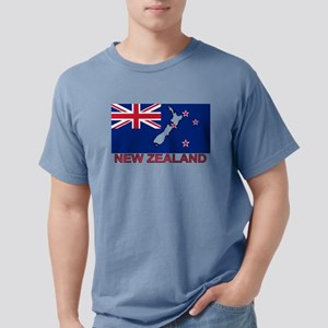 New Zealand Flag (labeled) T-Shirt