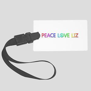 Peace Love Liz Large Luggage Tag