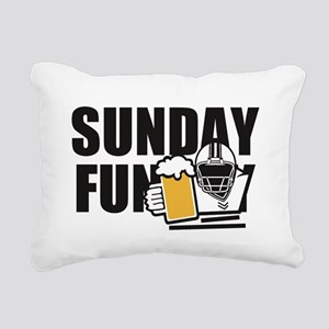 Sunday Funday Rectangular Canvas Pillow