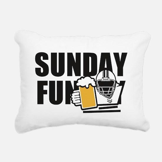 Sunday Funday Rectangular Canvas Pillow