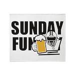 Sunday Funday Throw Blanket