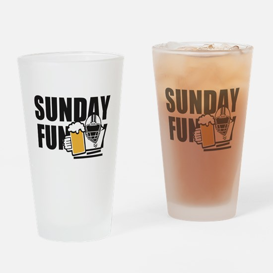 Sunday Funday Drinking Glass