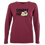 Sunday Funday Plus Size Long Sleeve Tee