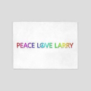 Peace Love Larry 5'x7' Area Rug