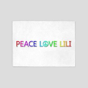 Peace Love Lili 5'x7' Area Rug