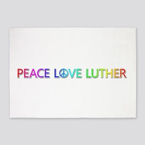 Peace Love Luther 5'x7' Area Rug