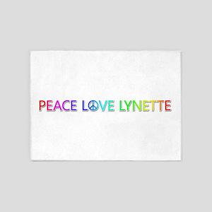 Peace Love Lynette 5'x7' Area Rug