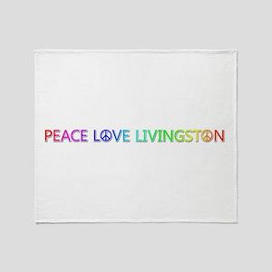 Peace Love Livingston Throw Blanket