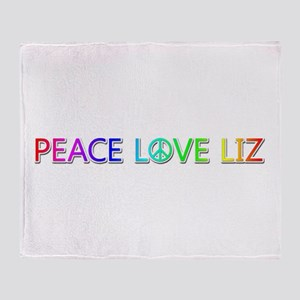 Peace Love Liz Throw Blanket