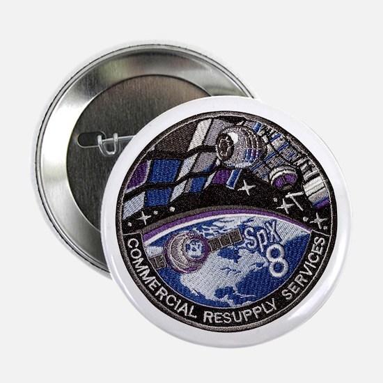 """SpX 8 Logo 2.25"""" Button"""