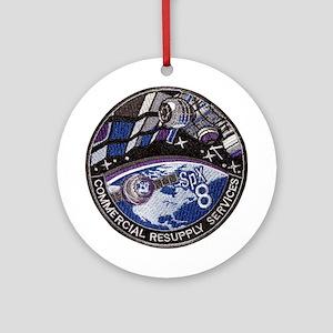 SpX 8 Logo Round Ornament