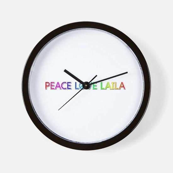 Peace Love Laila Wall Clock