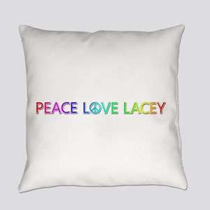 Peace Love Lacey Everyday Pillow