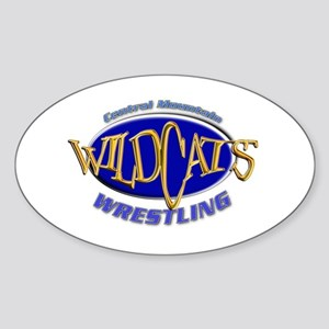 Central Mountain Wrestling 3 Oval Sticker