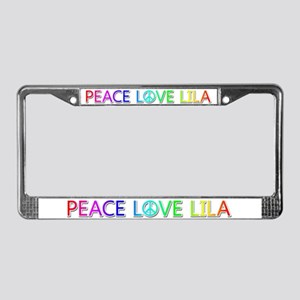 Peace Love Lila License Plate Frame