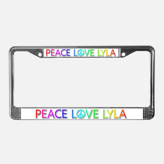 Peace Love Lyla License Plate Frame