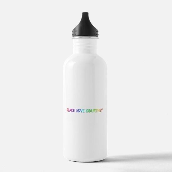 Peace Love Kourtney Water Bottle