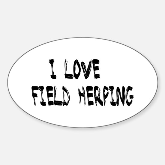 I love field herping Decal