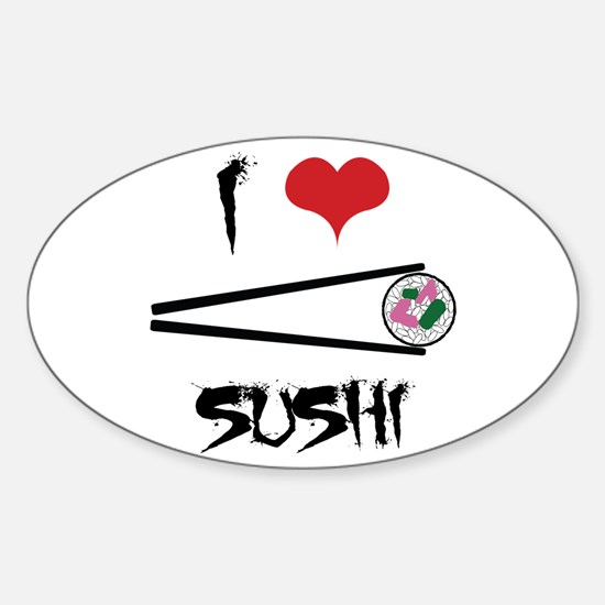 I Love Sushi Decal