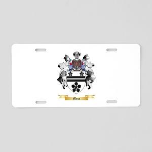 Meus Aluminum License Plate